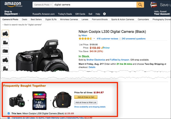 Using Frequently Bought Together with your own products