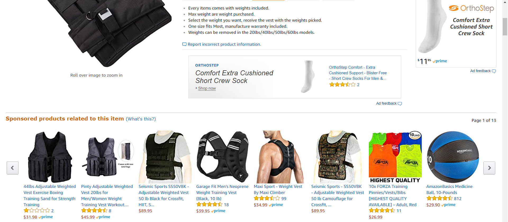sponsored product listing placement